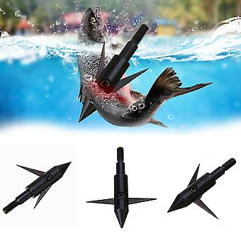 Pontos de ponta de flecha de arco, pontas de flecha de pesca, pontas de seta de broadheads, aço