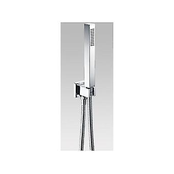 Rail carré de douche de main de Chrome sans douche portatif
