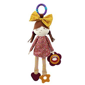 Cute Girl Big Bow Rattle Toys With Bell Sound Paper Teether Plush Baby Hanging Toys Colorful Rattling Doll For Infant