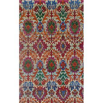 Spura Home käsin solmittu siirtymäkauden kukka puuvilla & silkki 5x8 monivärinen alue matto