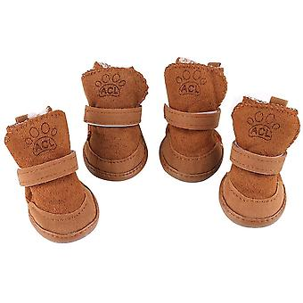 Snow Boots For Puppy With Adjustable Straps Anti-slip Sole Protectors