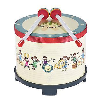 8-calowy drewniany bęben podłogowy zbierania klub karnawałowy instrument perkusyjny z 2 mallets dla dzieci