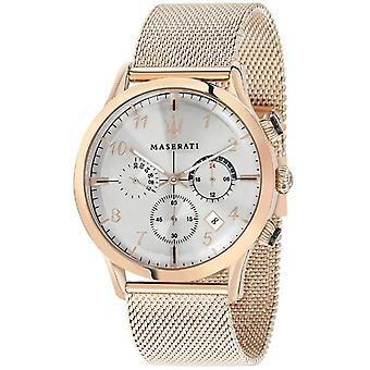 Maserati R8873625002 Men's Ricordo Chronograph Rose Gold Tone Mesh Wristwatch