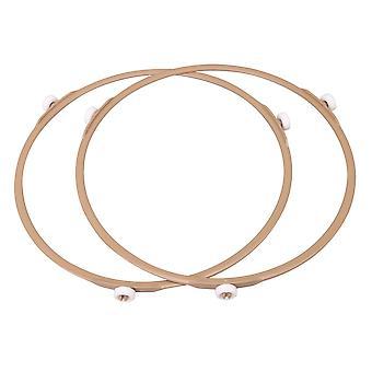 2 stk PPS Brun Mikrobølgeovn Platespiller Ring Deler Ytre Diameter 22cm