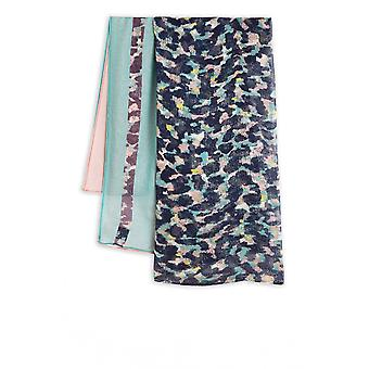 Sandwich Clothing Blue & Pink Patterned Scarf
