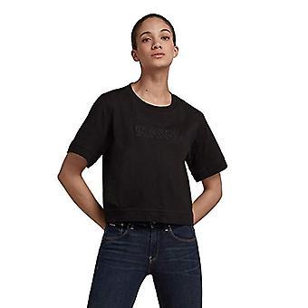 G-STAR RAW Raw Broderi Boxy Fit Lös T-Shirt, Dk Svart B771-6484, M Kvinna