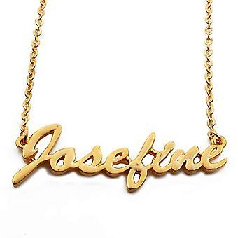 "L Josefine - 18カラットゴールドメッキネックレス、16の調整可能なチェーン""- 19""、リーガル包装"
