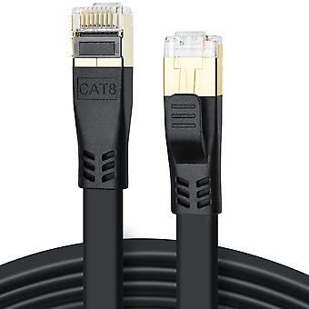 FengChun Cat 8 LAN Kabel 1m, Hochgeschwindigkeit 40Gbps 2000MHz SFTP CAT8 Flaches Patchkabel,