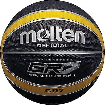 FengChun Offizieller schwarz/gelber Gummi-Basketball - Größe 5
