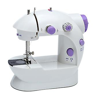 White Household With Lamp Small Electric Quick Handy Stitch Sew Needlework Cordless Clothes Fabrics Sewing Machines
