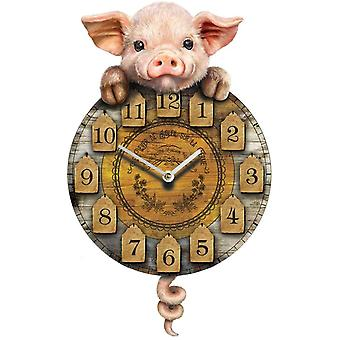 Piggin' Tickin' Clock