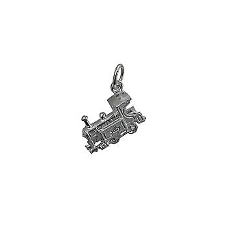 Silver 15x6mm Train Pendant or Charm