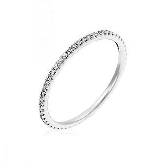 Alliance Ring 'Beautiful Alliance Tour Compleet' Witgoud en Diamanten
