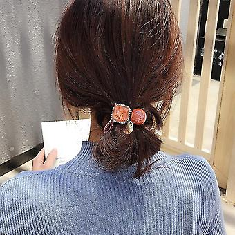 30Pcs 10pcs/20pcs/30pcs/lot new fashion amber hair rope accessories for women ultra-stretch all-match vintage crystal block girls hair band fa1633