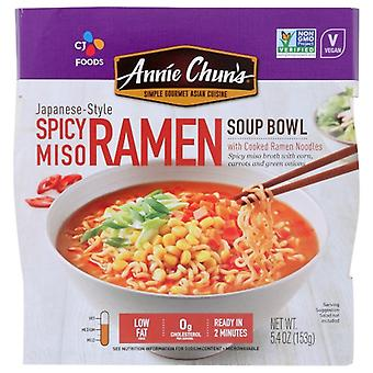 Annie Chuns Soup Bwl Spicy Miso Ramen, Case of 6 X 5.4 Oz