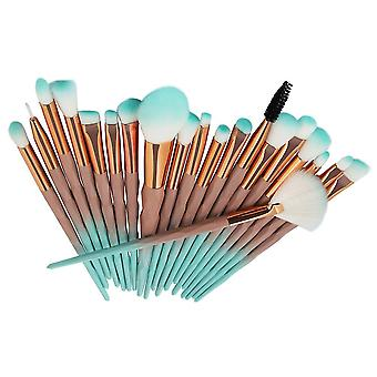 Green 25x15x2.5cm cosmetic brush 20 pieces colorful one set homi2597