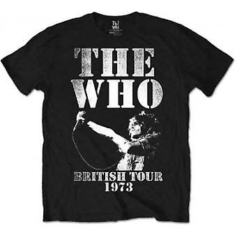 Who British Tour 1973 Black Mens TShirt Storlek: X Large