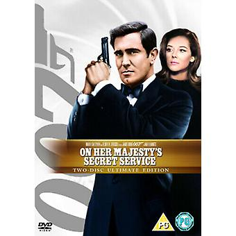 Auf Her Majestys Secret Service DVD (2008) George Lazenby Hunt (DIR) Zertifikat PG Region 2