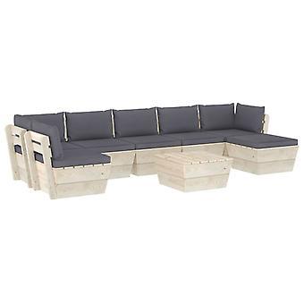 vidaXL 8 pcs. Garden sofa set made of pallets with cushions spruce wood