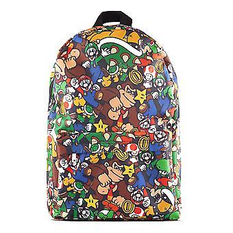Nintendo - Personages All-Over Print Rugzak - Multi-Colour