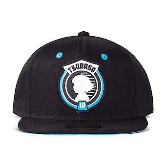 Captain Tsubasa - Unisex Tsubasa 10 Logo Patch Snapback Baseball Cap (Black)