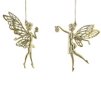 Enkel 15cm guld akryl fairy - hängande prydnad