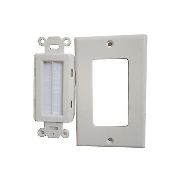 Power outlets sockets single gang brush wall plate and screws