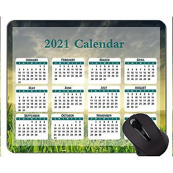 (260x210x3) Kalendář 2021 Protiskluzová gumová herní podložka pod myš, krásná travnatá porostová gumová myš