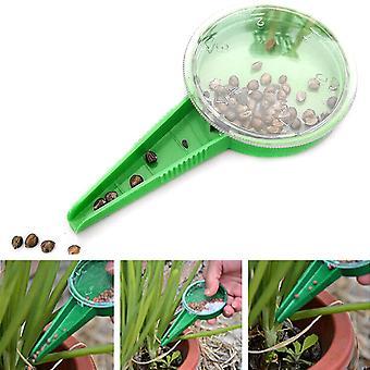 Μίνι κήπος φυτό σπόρος διανομέας sower καλλιεργητής σπόρος καντράν 5-τρόπους διευθετήσιμο εργαλείο