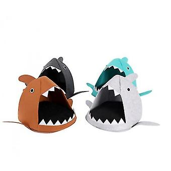 Cartoon Cat Litter Shark Four Seasons Folding(Lightgrey)