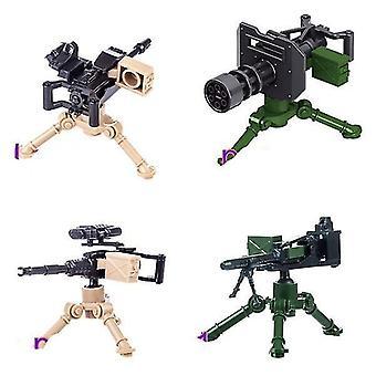 التماثيل العسكرية جزيئات صغيرة بناء كتل الأسلحة أجزاء اللغز