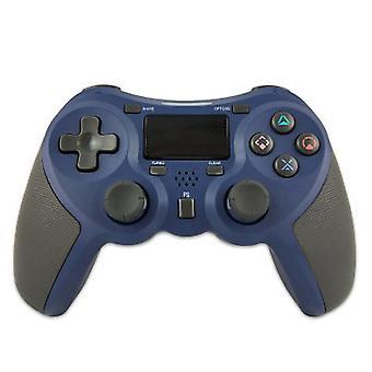 Manette sans fil Chronus pour PS-4 avec haut-parleur intégré avec prise casque stéréo et pavé tactile multipoint, batterie au lithium rechargeable, fonction Double Shock(bleu)