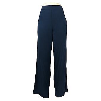 WynneLayers av MarlaWynne Dame Bukser Modal Wide-Leg Bukse Blå 618313