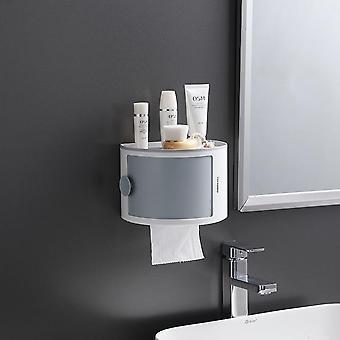 Bathroom Toilet Paper Plastic Storage Rack Waterproof Wall Mounted Kitchen Shelf Large