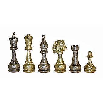 Pièces d'échecs Staunton grands hommes métal