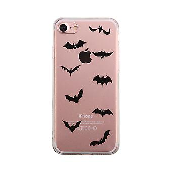 Bat Character Halloween Transparent Phone Case Cute Clear Phonecase