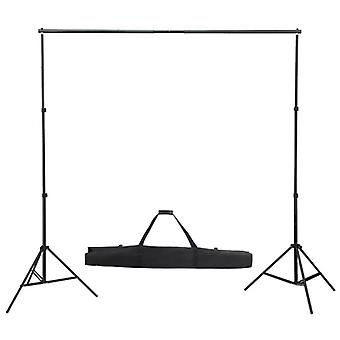 Telescopic Background System 155-300cm Studio Backdrop Support Stand