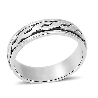 TJC Silber Ehering Ring für Unisex Sterling Stamped Jewellery(Q)