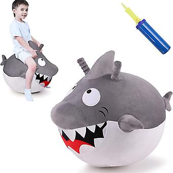 Children's White Shark Ball Outdoor Inflatable Toy Animal Jumping Gifts For Boys And Girls Aged 2, 3, 4, 5