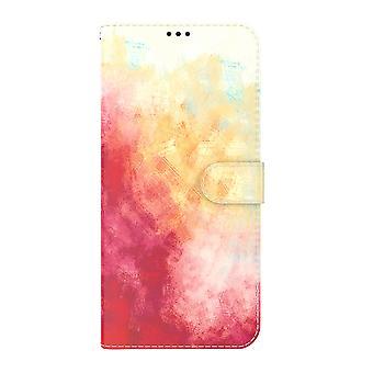 Housse Pour Samsung Galaxy A42 5g Aquarelle Housse Rouge Jaune
