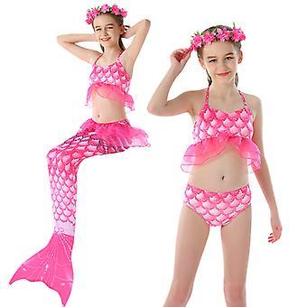 3pcs Girls Swimsuits Mermaid For Swimming Mermaid Costume Bikini Set