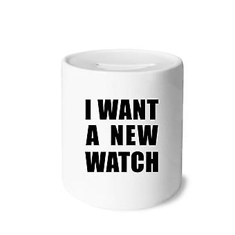 أريد ساعة جديدة طباعة السيراميك الخنزير البنك