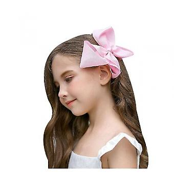 Children's Bow Hair Accessories, Solid Color Bubble Flower Hairpin, 30pcs