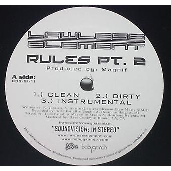 Lawless Element - Rules Pt. 2 [Vinyl] USA import