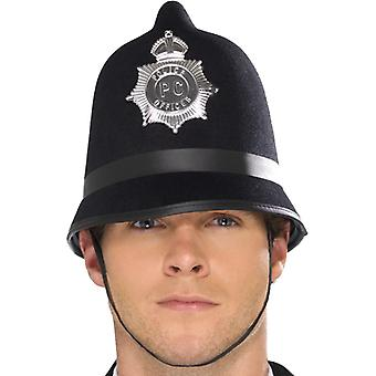 קסדת משטרה עם תג מורגש