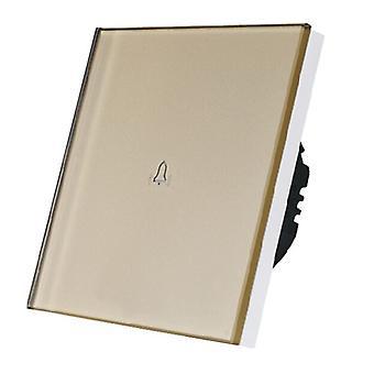 Я LumoS роскошь Золото стеклянной панели Touch контролируемых дверной звонок