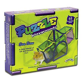 Superpet Crittertrail Puzzle Seesaw Playground Pet Accessory