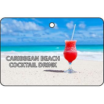 Assainisseur d'Air Caraïbes Beach cocktail de voiture
