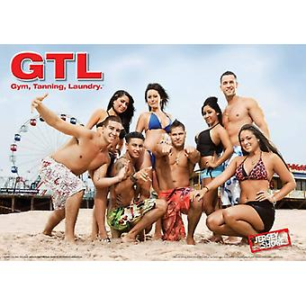 Jersey Shore Gym Tanning Laundry Poster Poster Print