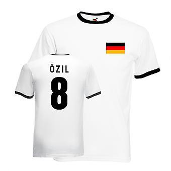Mesut Ozil Allemagne Ringer Tee (blanc-noir)